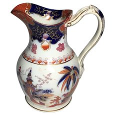 Early 19th C. Staffordshire, Pottery Jug or PITCHER  Pitcher Mask Head Handle ca. 1830