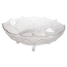 Pressed Glass Ivy Bowl