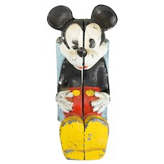 Mickey Mouse Bank- Cast Iron Disney Product