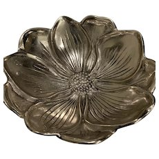 Beautiful Vintage Aluminum Flower Bowl