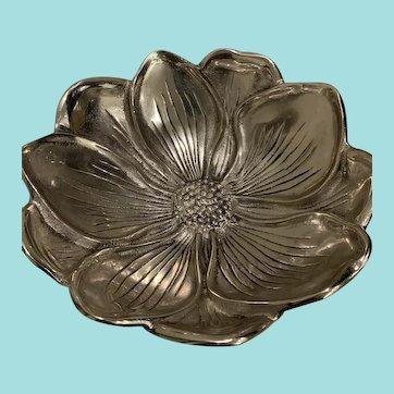 Beautiful Vintage Aluminum Flower Bowl