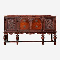 Antique Buffet Sideboard 1800s Spanish Renaissance Revival