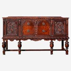Antique Buffet Sideboard 1800s Spanish Renaissance Revival