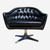 Mid century swivel armchair by Chromecraft 1950s