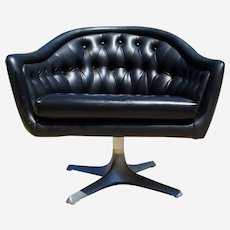 Mid century swivel armchair by Chromecraft 1950s