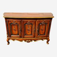 French Provincial Country console sideboard buffet hand painted by Heritage