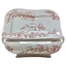 "Antique Bavarian Marx & Gutherz of Austria Porcelain 18"" Platter & Large Tureen Set"