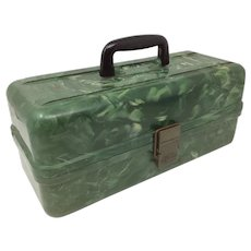 Plano Vintage Marbleized Plastic Tackle Box - Made in USA