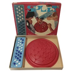 Vintage SPLIT Marble Strategy Game by Whitman Mid 1960s in Very Good Condition & Complete