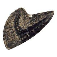 Vintage Shawnee #209 Boomerang Style Ashtray Gold on Black Eames Era MCM Modernist