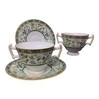 Royal Doulton for Tiffany & Company NY Bouillon Set #E9934 Ca. 1900-20s