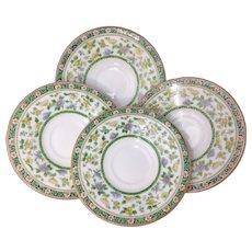 "Tiffany & Co. 5-5/8"" Saucer Set By Royal Doulton Circa 1900-20s #E9934"