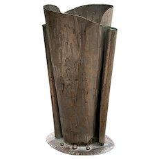 Craftsman Studios Inc. Hand-Hammered Copper Signed Vase