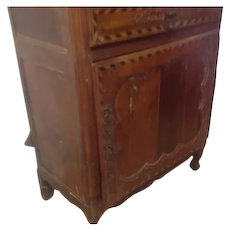 French Cherry Wood and Multi Wood Inlaid Cabinet Sagurrimes Cabinet,Armoire ,Buffet comprising two cupboards and single long drawer