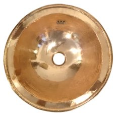 Handworked Handmade Solid Copper Hammered Effect Metal Vintage Washbasin 37 cm diameter with over lip