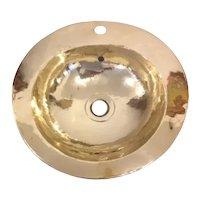Handworked Handmade Solid Brass Metal Vintage Washbasin 48 cm diameter