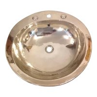 Handworked Handmade Aluminium Metal Vintage Washbasin 57 x 59 cm
