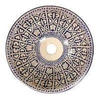 37 40cm Single Sided Handmade Moroccan Pottery Ceramic Vintage Washbasin Wash basin Bathroom Sink Alfresco Kitchen Sink