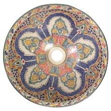 32 40cm Single Sided Handmade Moroccan Pottery Ceramic Vintage Washbasin Wash basin Bathroom Sink Alfresco Kitchen Sink