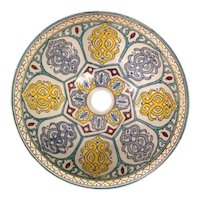 30 40cm Single Sided Handmade Moroccan Pottery Ceramic Vintage Washbasin Wash basin Bathroom Sink Alfresco Kitchen Sink