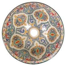 24 40cm Double Sided Handmade Moroccan Pottery Ceramic Vintage Washbasin Wash basin Bathroom Sink Alfresco Kitchen Sink