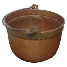 French Perigordain Copper Cauldron with cast iron handle VGc Plant Holder , Tress Planter Urn etc