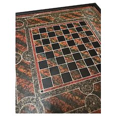 Antique Painted Slate Chess Board ca 1870