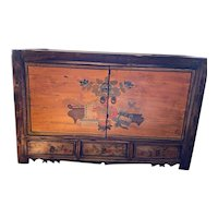 Rustic Hand-Painted Cabinet