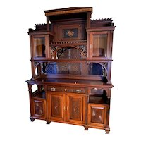 Magnificent Aesthetic Movement Cabinet, ca 1870 - 1890, Professionally Restored