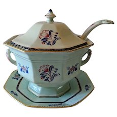 "Antique English Adams Calyx Ware ""Georgian Tulip"" Soup Tureen"