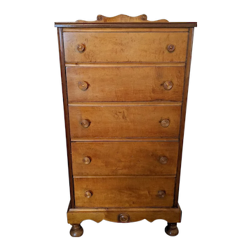 Antique Tiger Maple Chest of Drawers