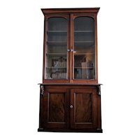 Antique 19th c. Victorian Two-Door Bookcase