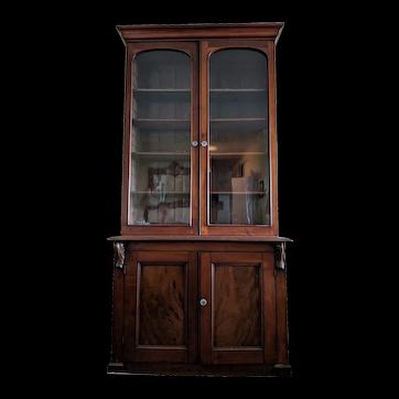 Antique 19th c. Victorian Two-Door Bookcase