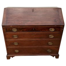 English Mahogany Slant Front Desk. Circa 1780