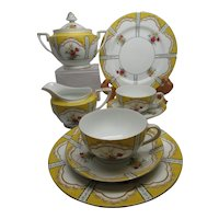 Noritake Luncheon Set for 2 with Creamer & Sugar, Art Deco 1910-20