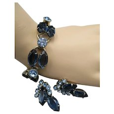 Delizza & Elster Set Bracelet & Earrings, Montana Blue