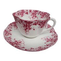 Shelley Dainty Pink Teacup & Saucer 1938-1966