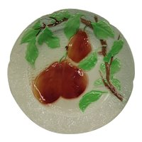 Antique Majolica Faience St Clement Pears Plate, 1900-1920, France