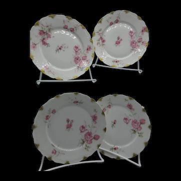 Haviland & Co 4 Dessert Plates, 1894-1931