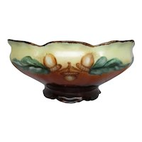 Art Nouveau Hand Painted Acorns Bowl Decor Candy