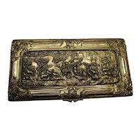 Jennings Dresser Box Large Bronze Tone Repousse Vintage