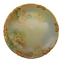 GDA France Limoges Cabinet Plate 1931 Artist Signed