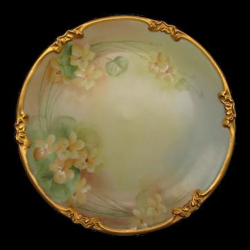 GDA France Limoges Cabinet Plate 1931 Artist Signed