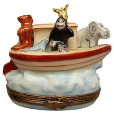 Noah's Ark Limoges Trinket Box by Chamart