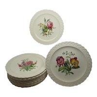 12 Copeland Spode Luncheon Plates 12 Varieties Bouquets