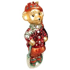 Chrisopher Radko Muffy Vanderbear Christmas Ornament Boxed NOS