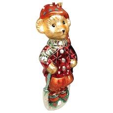 Chrisopher Radko Muffy Vanderbear Christmas Ornament Boxed NOS