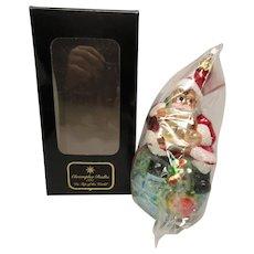 Christopher Radko Santa Ornament Boxed NOS