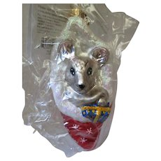 Christopher Radko Mouse Christmas Ornament Original Packaging NOS