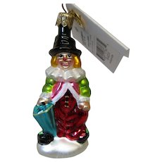 Christopher Radko Clown Christmas Ornament Little Gems Boxed NOS